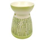 Aromalampa porcelánová se zeleným dekorem 11 cm