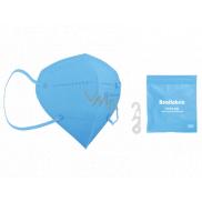 Healfabric Respirátor ústní ochranný 5-vrstvý FFP2 obličejová maska světle modrá 1 kus