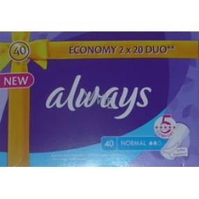 Always Normal intimní vložky 2 x 20 kusů