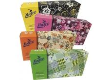 Linteo Satin papírové kapesníčky dvouvrstvé krabička 100 kusů