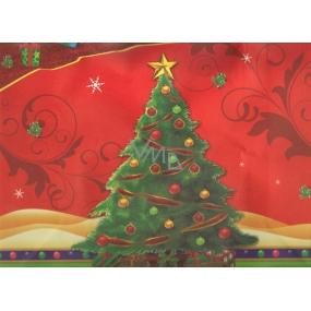 Nekupto Dárková kraftová taška střední 32,5 x 26 x 13 cm Vánoční stromeček, 263 WCL