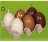 Lima Vajíčko s vůní svíčka hnědá 40 x 60 mm sada 6 kusů