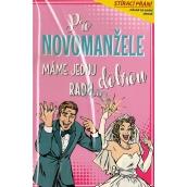 Nekupto Stírací přání k svatbě Pro novomanžele 21,5 x 13,5 cm G 21 3341