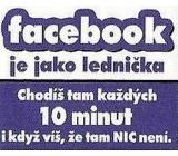 Nekupto Dárky s humorem Magnet ledničkový Facebook je jako 23 x 12 cm WM 013