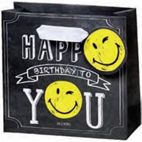 BSB Luxusní dárková papírová taška 23 x 19 x 9 cm Smiley LDT 377-A5