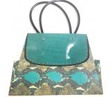 Nekupto Dárková papírová taška střední 25,5 x 18 x 10 cm kabelka PVC ucho 044 LCM