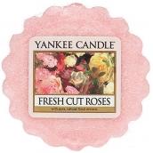 Yankee Candle Fresh Cut Roses - Čerstvě nařezané růže vonný vosk do aromalampy 22 g