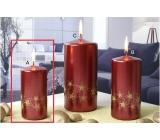 Lima Starlight svíčka červená/zlatá 50 x 100 mm 1 kus