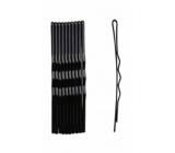 Duko Vlasové spony černá lak 7 cm 10 kusů