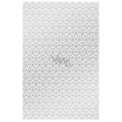 Ditipo Balicí papír bílý se stříbrnými ornamenty 100 x 70 cm 2 kusy