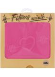 Albi Fitness ručník Srdce růžový 90 x 50 cm