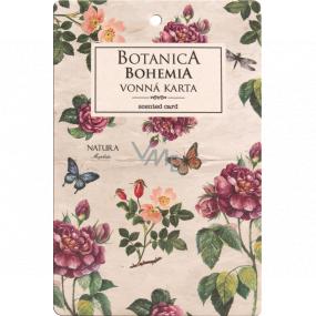 Bohemia Gifts Botanica Aromatická vonná karta Šípek a růže 10,5 x 16 cm