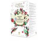 English Tea Shop Bio Adventní kalendář bílý 24 kusů bioodbouratelných pyramidek čaje, 13 příchutí, 36 g, dárková sada