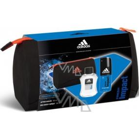 Adidas Fresh Impact voda po holení 100 ml + deodorant sprej 150 ml + toaletní taška, kosmetická sada