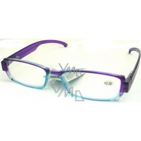 Berkeley Čtecí dioptrické brýle +2 MC 2076 fialovomodré CB02 1 kus MC2076