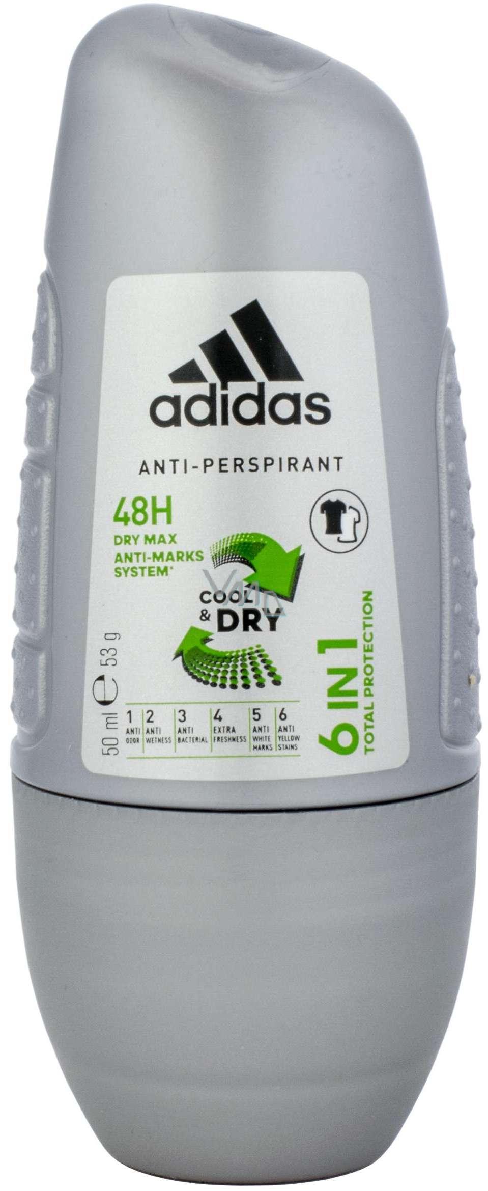 último descuento suave y ligero unos dias Adidas Cool & Dry 48h 6in1 50 ml men's antiperspirant roll-on ...