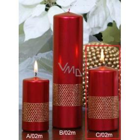Lima Stuha svíčka červená válec 60 x 120 mm 1 kus