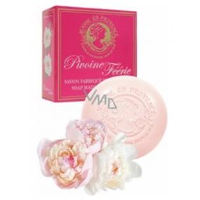Jeanne en Provence Pivoine Féérie Pivoňka tuhé toaletní mýdlo 100 g