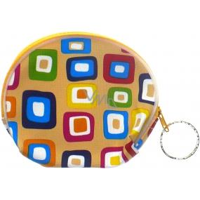 Nekupto Peněženka 006 žlutá s barevnými čtverečkami 10 x 8 cm