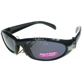 Dudes & Dudettes kategorie 3 sluneční brýle pro děti DD2014 šedé zdobení