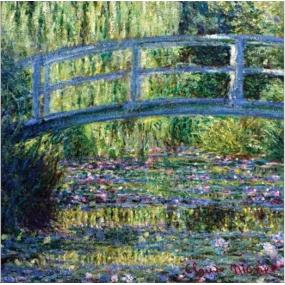 Le Blanc Le Pont - Claude Monet Vonný sáček Pivoňka 11 x 11 cm 8 g