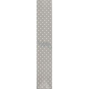 Nekupto Balící papír Klasik stříbrný, bílé puntíky 70 x 150 cm 725 02 BF