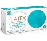Asap Rukavice Latex jednorázové pudrované latexové velikost L box 100 kusů