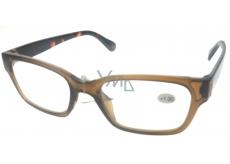 Berkeley Čtecí dioptrické brýle +1,0 plast hnědé, stranice tygrované 1 kus ER4198