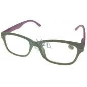 Berkeley Čtecí dioptrické brýle +4,0 plast šedé růžové stranice 1 kus MC2150