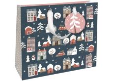 Nekupto Dárková papírová taška luxusní velká 33 x 33 cm Vánoční WLIL 1791