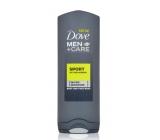 Dove Men + Care Active + Fresh osvěžující sprchový gel na tělo a obličej 250 ml