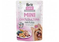 Brit Care Mini Chicken & Tuna Fillets In Gravy kompletní superprémiové krmivo pro dospělé psy mini plemen kapsička 85 g