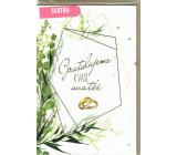 Nekupto Přání k svatbě Zelená rostlina 115 x 170 mm 3610 K