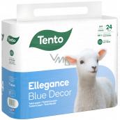 Tento Ellegance Blue Decor toaletní papír 3 vrstvý, 15,5 m, 24 kusů