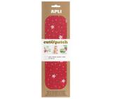 Apli Cut & Patch papír na ubrouskovou techniku Červený s hvězdami 30 x 50 cm 3 kusy