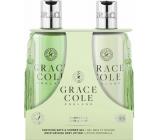 Grace Cole Grapefruit, Lime & Mint sprchový gel 300 ml + tělové mléko 300 ml, kosmetická sada