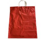 Taška igelitová červená s uchem 36 x 45 cm