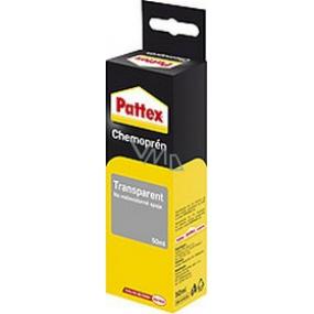Pattex Chemoprén Transparent lepidlo na vodovzdorné spoje kombinace materiálů 50 ml v krabičce