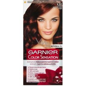 Garnier Color Sensation barva na vlasy 4.52 Intenzivní hnědá
