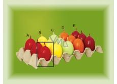 Lima Aromatické vajíčko svíčka červená A 40 x 60 mm