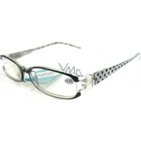 Berkeley Čtecí dioptrické brýle +3,50 černé puntíky CB02 1 kus MC2089
