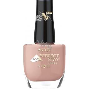Astor Perfect Stay Gel Shine 3v1 lak na nehty 119 Vintage Pink 12 ml