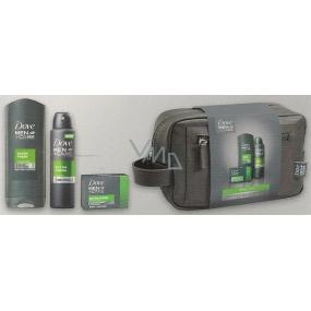 Dove Men + Care FM Extra Fresh Men sprchový gel 250 ml + deodorant sprej pro muže 150 ml + krémová tableta 90 g + toaletní taška, kosmetická sada