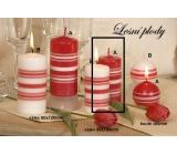 Lima Fresh Line Lesní plody vonná svíčka červená válec 50 x 100 mm