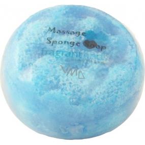 Fragrant Issey Men Glycerinové mýdlo masážní s houbou naplněnou vůní parfému Issey Miyake Man v barvě světle modré 200 g