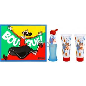 Moschino I Love Love toaletní voda pro ženy 50 ml + tělové mléko 100 ml + sprchový gel 100 ml, dárková sada