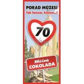 Bohemia Gifts & Cosmetics Vše nejlepší 70 Mléčná čokoláda dárková 100 g