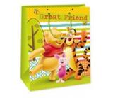 Ditipo Disney Dárková papírová taška pro děti Medvíde Pú, Great Friend 26,4 x 12 x 32,4 cm
