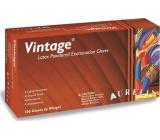 Aurelia Vitage jednorázové latexové rukavice s pudrem velikost XL box 100 kusů