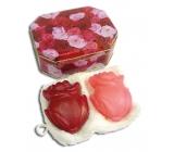 Kappus Růže luxusní mýdlo s přírodními oleji dárkové v dóze 2 x 100 g